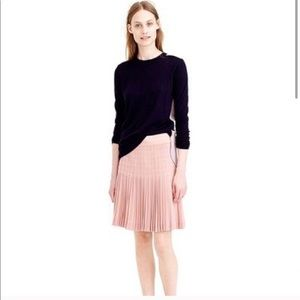J. Crew Pleated mini skirt in rose color size 4
